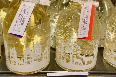 New Rhubarb Gin & Clementine Gin Liqueur Light Up Snow Globes At M&S